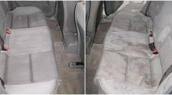 химчистка заднего сидения автомобиля