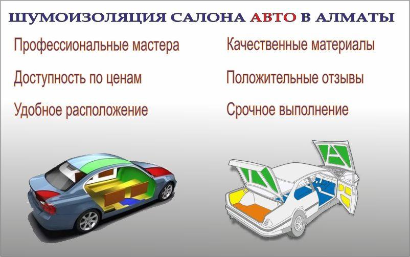 шумоизоляция авто Алматы
