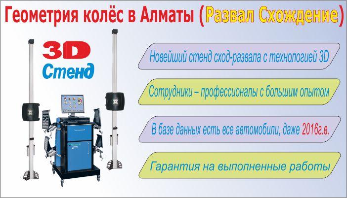Геометрия колес Алматы